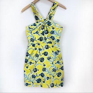Topshop Floral Mini Sheath Dress Size 4